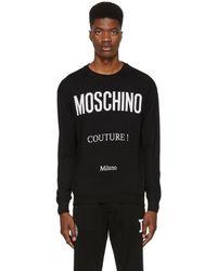 Moschino - Black Milano Logo Sweatshirt - Lyst