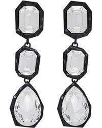 Ambush | Black Crystal Stone Earrings | Lyst