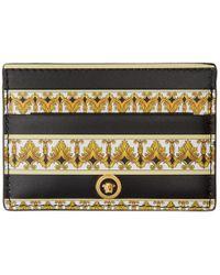 Versace Porte-cartes noir et dore Barocco - Métallisé