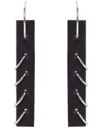 Ribeyron - Black Small Pierced Earrings - Lyst