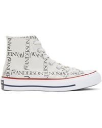 J.W. Anderson | White Converse Edition All Over Logo Chuck Taylor All Star 70s Hi Trainers | Lyst