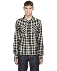Nudie Jeans - Black And Off-white Check Jonis Western Shirt - Lyst