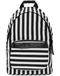 AMI - Black & White Striped Backpack - Lyst