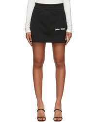 Palm Angels - Racing Stripe Logo Mini Track Skirt - Lyst