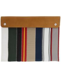 Maison Margiela - Multicolor Canvas And Leather Flap Pouch - Lyst