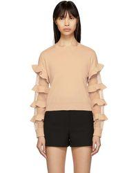 RED Valentino - Pink Ruffle Sweater - Lyst