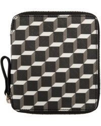 Pierre Hardy | Tricolor Perspective Cube Wallet | Lyst