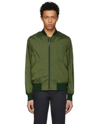 PS by Paul Smith - Green Lightweight Nylon Bomber Jacket - Lyst