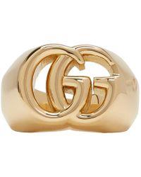 Gucci - ゴールド GG ランニング リング - Lyst