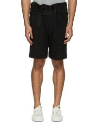 Ann Demeulemeester - Black Belted Shorts - Lyst