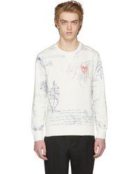 Alexander McQueen | White Explorer Sweatshirt | Lyst