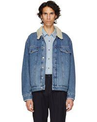 HUGO - Blue Sherpa Denim Jacket - Lyst
