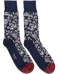 Paul Smith - Navy Japanese Floral Socks - Lyst