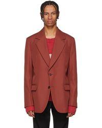 Acne Studios - Red Tailored Blazer - Lyst