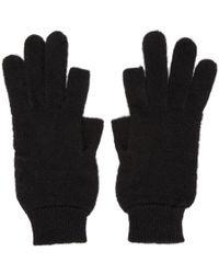 Rick Owens - Black Alpaca Texting Gloves - Lyst