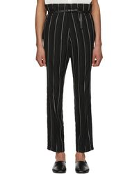 Haider Ackermann | Black And White Kunzite Double Waisted Trousers | Lyst