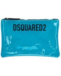 DSquared² - Pochette en PVC bleue - Lyst