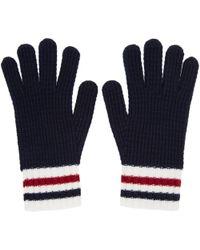 Moncler Gamme Bleu | Navy Wool Gloves | Lyst