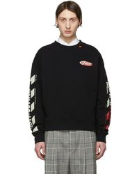 4035a224d14f Lyst - Off-White c o Virgil Abloh Black Snake Mirror Pullover in ...
