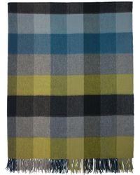 Paul Smith - Couverture a carreaux jaune et bleue - Lyst