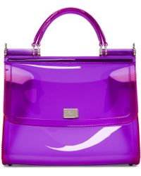Dolce & Gabbana - Purple Small Rubber Miss Sicily Bag - Lyst