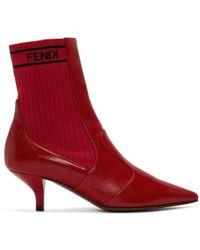 Fendi - Red Rockoko Boots - Lyst