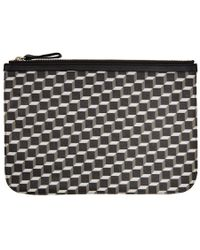 Pierre Hardy - Black And White Large Cube Perspective Pouch - Lyst