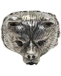 DSquared² - Silver Bear Ring - Lyst