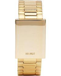 Helmut Lang   Gold Shayne Oliver Faceless Watch Bracelet   Lyst