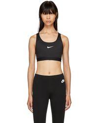 Nike - Black Pro Classic Padded Sports Bra - Lyst