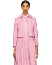 Comme des Garçons - Pink Round Collar Jacket - Lyst