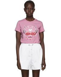 KENZO - Pink Limited Edition Bleached Tiger T-shirt - Lyst
