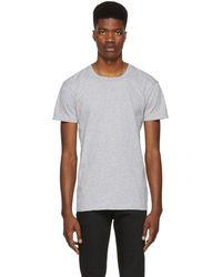 Naked & Famous - Grey Ringspun Cotton T-shirt - Lyst