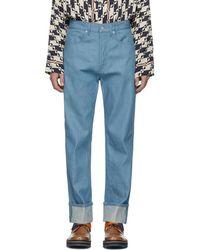 Dries Van Noten - Blue Panthero Jeans - Lyst