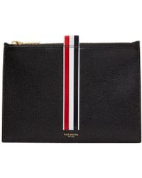 Thom Browne - Black Large Coin Pouch - Lyst