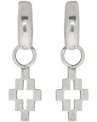 Marcelo Burlon - Silver Cross Pendant Earrings - Lyst