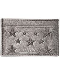 Jimmy Choo - Gunmetal Metallic Dean Star Card Holder - Lyst
