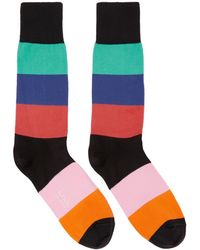 Paul Smith - Multicolor Razzle Stripe Socks - Lyst