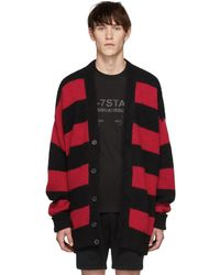 DSquared² - Black And Red Striped Cardigan - Lyst