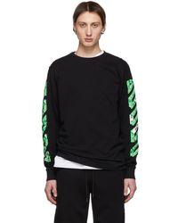 Off-White c/o Virgil Abloh - Ssense Exclusive Black Diag Arrows Long Sleeve T-shirt - Lyst
