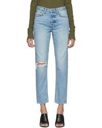 GRLFRND - Blue Klara Jeans - Lyst