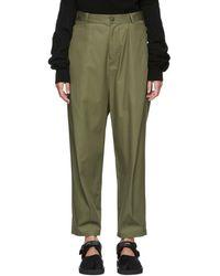 Y's Yohji Yamamoto - Khaki Sarouel Trousers - Lyst