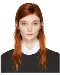 Hyke - White Detachable Collar - Lyst