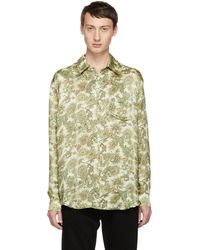 Our Legacy - White Plants Print Initial Shirt - Lyst