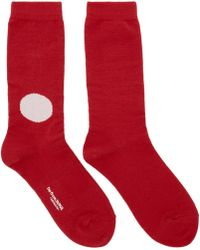Blue Blue Japan | Red And Off-white Dot Socks | Lyst