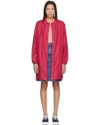 Maison Kitsuné - Red Long Bertile Windbreaker Jacket - Lyst