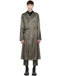 Jil Sander - Grey Nylon Trench Coat - Lyst