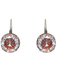 Bottega Veneta - Silver Zircon Earrings - Lyst