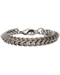Balenciaga - Silver Chain Set Bracelet - Lyst