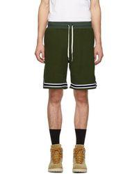 John Elliott - Green Corduroy Knit Shorts - Lyst